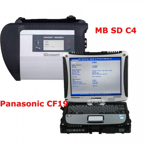 V2019.3 MB SD Connect 4 MB Star C5 with 4GB Panasonic CF19 Laptop Software Pre-installed and Activated Directly to Use