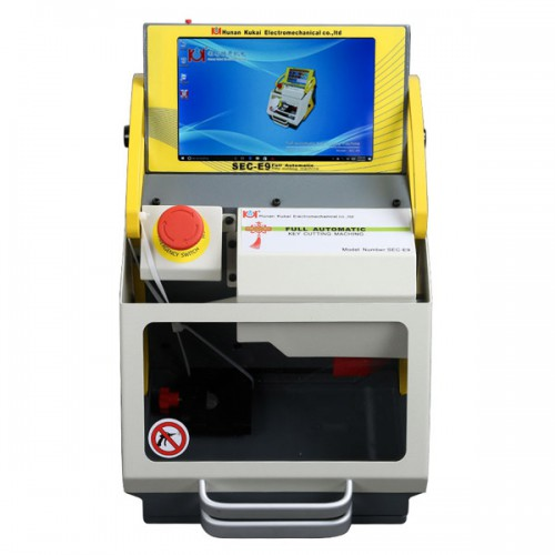 2019 Latest SEC-E9 CNC Automated Key Cutting Machine with Android Tablet Send Free Ford Tibbe Jaws FO21 Key Clamp