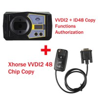Xhorse V6.0.0 VVDI2 Commander Key Programmer with ID48 Copy Functions Authorization plus Xhorse VVDI2 48 Chip Copy