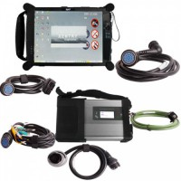 V2019.7 EVG7 DL46 Diagnostic Controller Tablet PC Plus MB SD Connect C5 WiFi Diagnostic Kit Free Installation