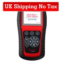 [Ship from UK No Tax]Original Autel AutoLink AL619EU OBDII CAN ABS And SRS Scan Tool Update Online