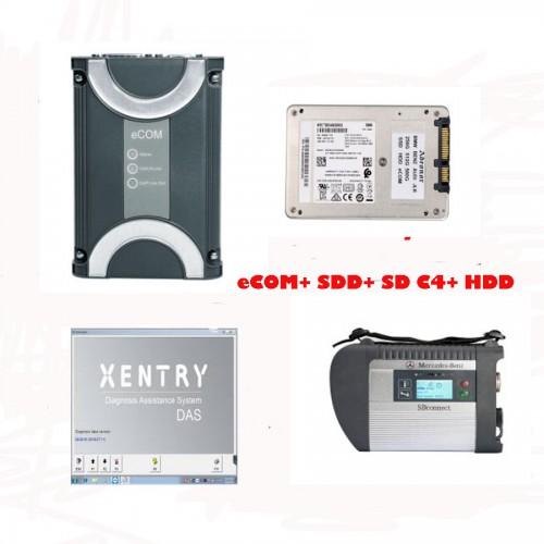 [No Tax] Benz eCOM DoIP and MB SD Connect C4 with 2019.5 Xentry Software HDD