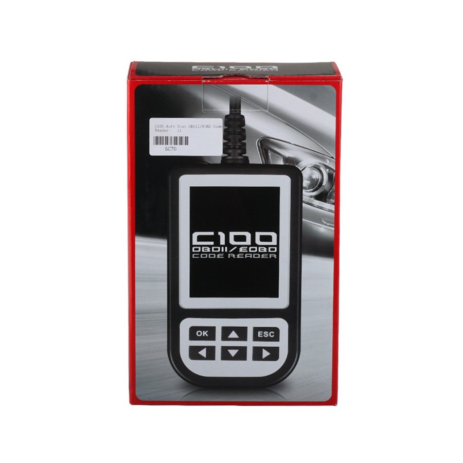 Newest Version V3.8 C100 2 in 1 Auto Scan OBDII/EOBD Code Reader for Petrol and Diesel Cars