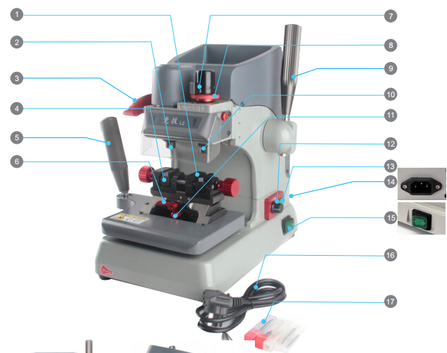 JINGJI L2 Multi-functional Vertical Key Cutting Machine