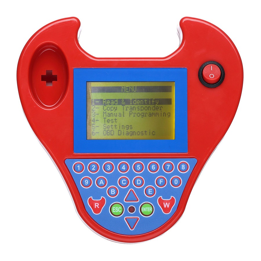 Mini Zed-Bull Transponder Key Programmer without Tokens Limitation Support Multi-language