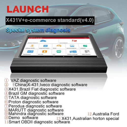 [UK Ship] 100% Original Launch X431 V+ Full System Diagnostic Tool Bi-Directional Scan Tool 2 Years Free Update Online