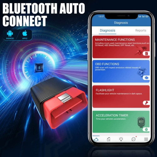 [UK Ship]ThinkCar 2 Thinkdriver Full System Obd2 Scanner iOS Android Auto Car Diagnostic Code Reader Bluetooth 15 Reset Functions