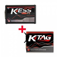 [No Tax] Kess V2.70  V5.017 Plus Ktag 7.020 SW V2.25 Red PCB EURO Online Version Get Free V1.61 ECM TITANIUM