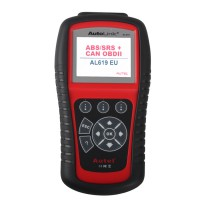 [UK Ship No Tax]AutoLink AL619 ABS SRS OBDII Diagnostic Tool with Multi-language Update Online